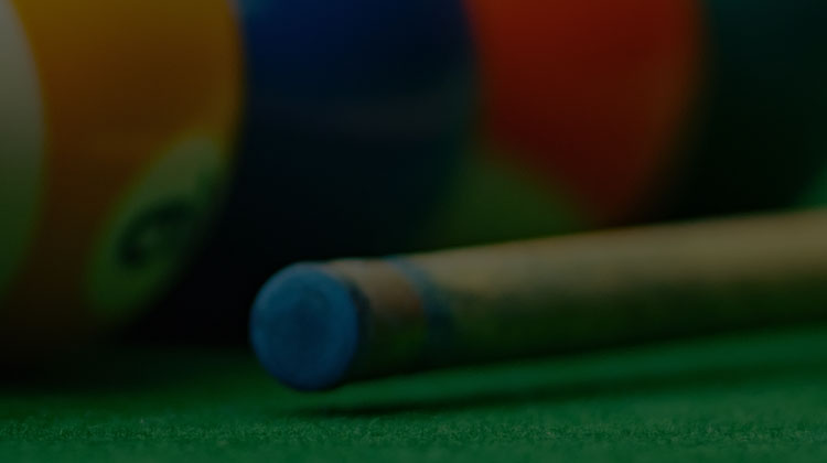 Tip of A Pool Stick Cue
