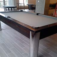 Light Neutral and Dark Wood Combination Pool Table