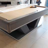 Tan and Gray Modern Billiard Table