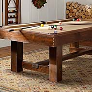 Natural Wood Pool Table